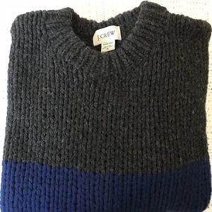 J. Crew Men's Wool Hand Knit Sweater